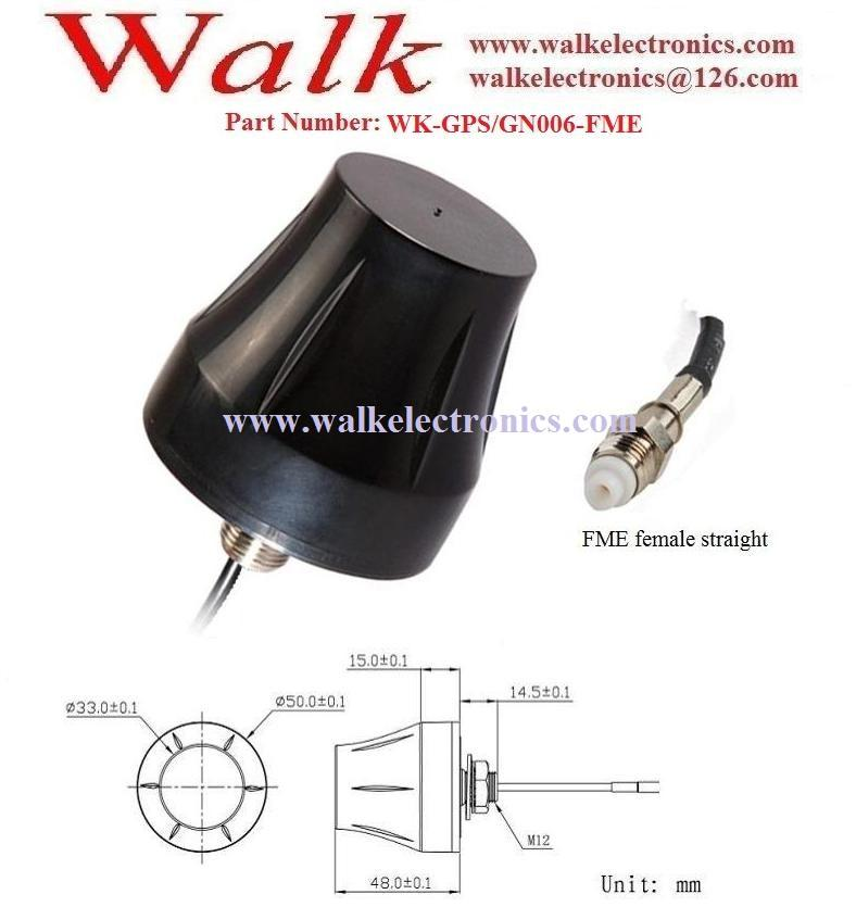 fme female small size waterproof highgain screw mount gps glonass active antenna 2