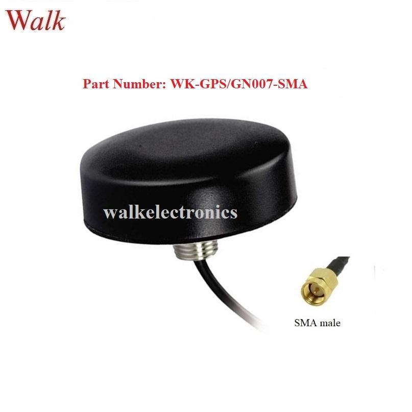 SMA male small size waterproof high gain gps glonass active car antenna 1