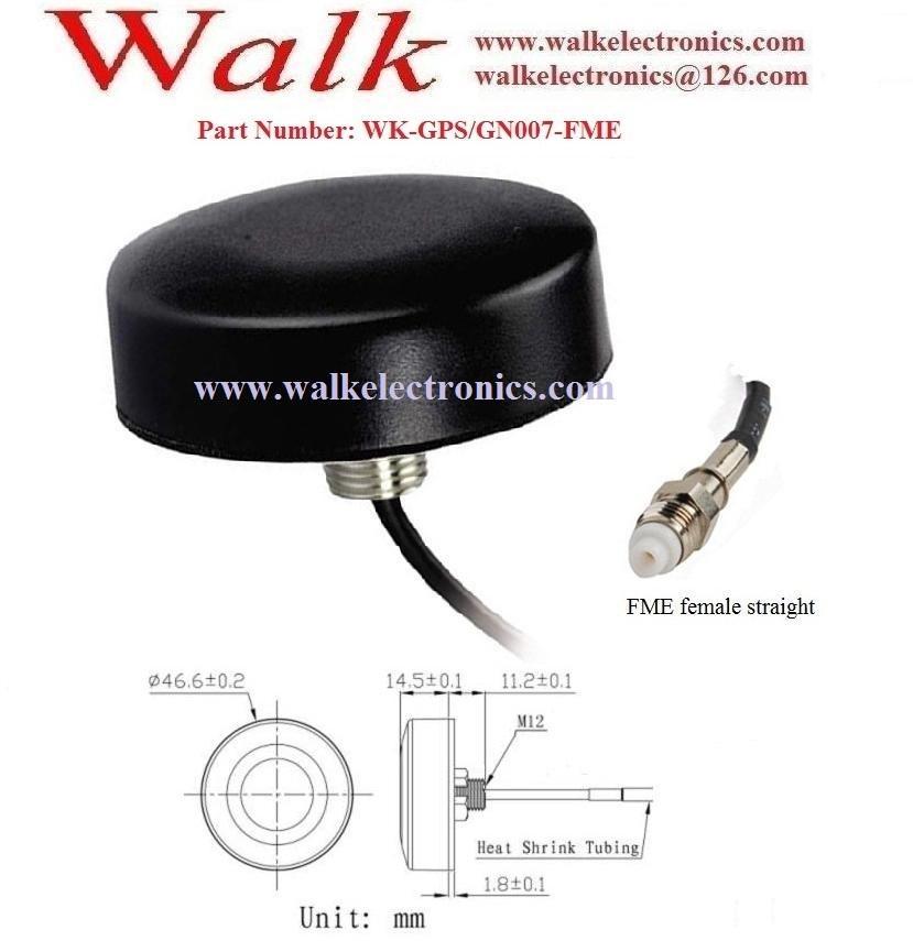 FME female waterproof screw mount small size high gain gps glonass antenna 2