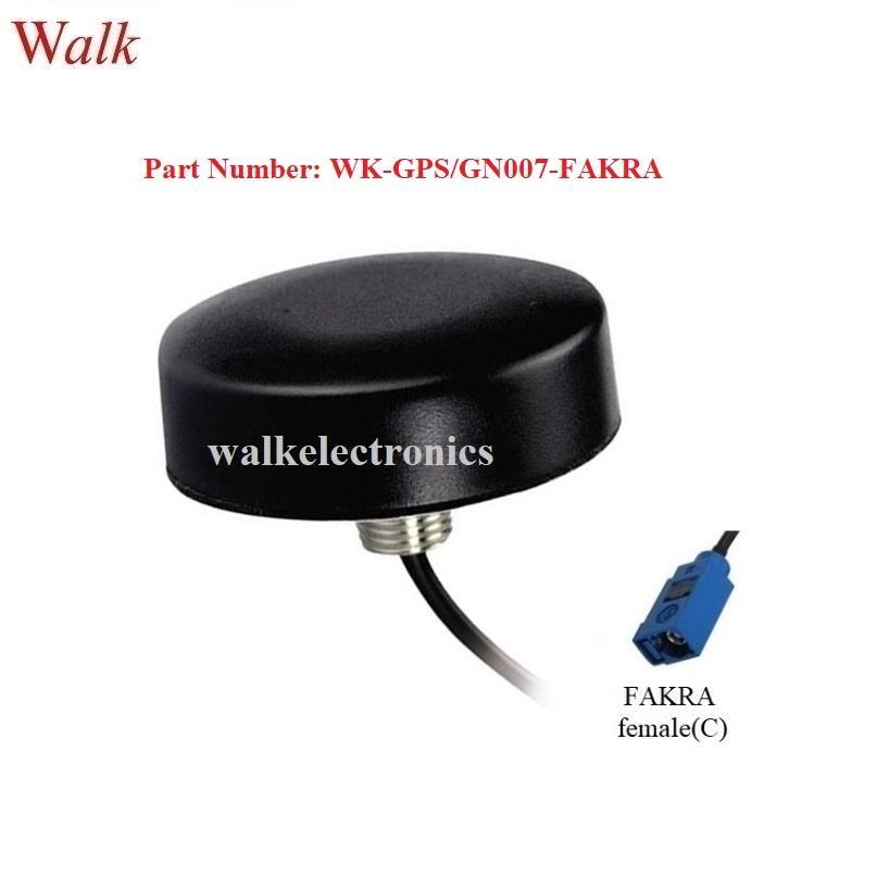 FAKRA female small size IP67 screw mount high gain active gps glonass antenna 1