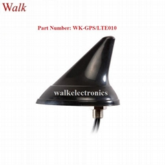 waterproof outdoor use screw mount shark fin GPS 3g 4g lte combo car antenna