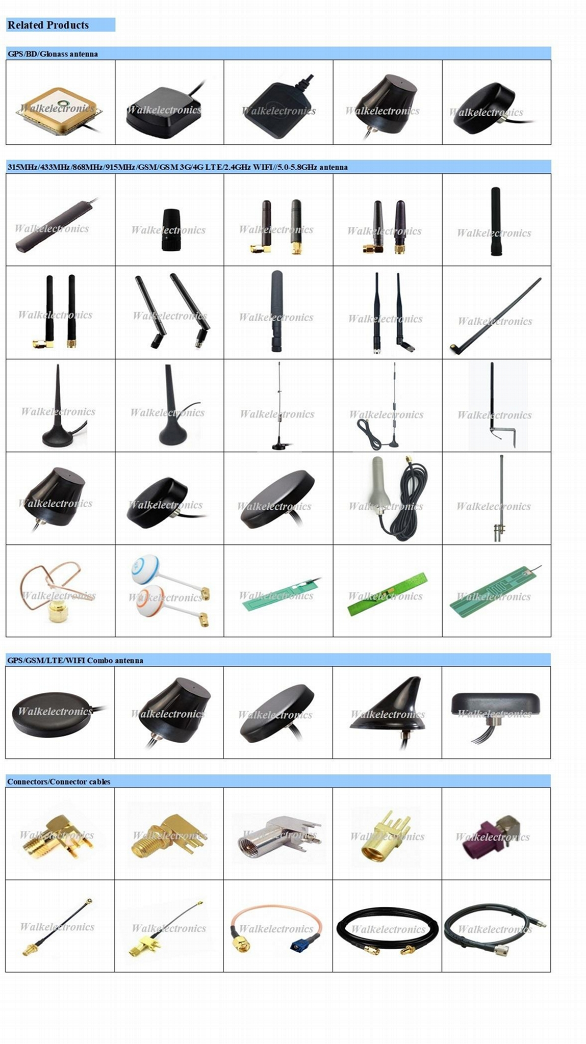 waterproof magnetic or adhesive mount high gain gps 3g 4g lte wifi combo antenna 4