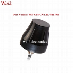 small size IP67 outdoor use screw mount GPS glonass 4G LTE WIFI combo antenna