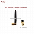 50mm length small size RP-SMA male right angle 2.4GHz WiFi stubby rubber antenna
