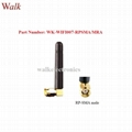 RP-SMA male angle 50mm size short omni direction wifi 2.4GHz stubby sma antenna