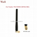110mm SMA male right angle omni directional 2.4GHz Zigbee WiFi rubber antenna