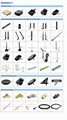 RP-SMA male straight 115mm length zigbee 2.4GHz wifi rubber stubby sma antenna