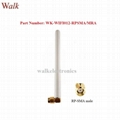 110mm white color omni directional RP-SMA male angle 2.4ghz zigbee wifi antenna