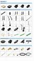 omni directional 5.0dbi high gain RP-SMA male straight elbow 2.4GHz WiFi antenna