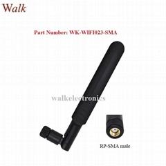 RP-SMA male 5dbi flexible 2.4GHz 5.0-5.8GHz dual band wifi rubber stubby antenna