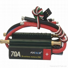 FLYCOLOR 70A 2-6S Lipo Water cooling Series brushless ESC for Boat Programmable