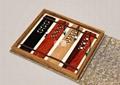 典墨高檔紅木文雅窗櫺書籤四件套