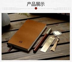 工厂直供新品耕读PU便携本红木笔书签三件套个性实用创意礼品定制