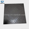 Composite square manhole cover