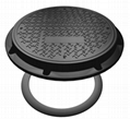 EN124 manhole cover with rubber