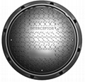 EN124 manhole cover with rubber seal