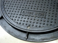 Polymer round manhole cover
