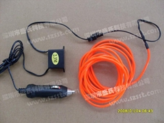 el wire and 12V inverter