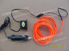 el wire and 12V inverter