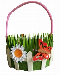 High Quality New Felt  Easter Felt Basket Children Gift Promotion Home Decor