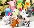 Educational Baby Cartoon Animal Plush Finger Puppets Set Story Telling 1
