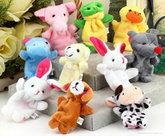 Educational Baby Cartoon Animal Plush Finger Puppets Set Story Telling
