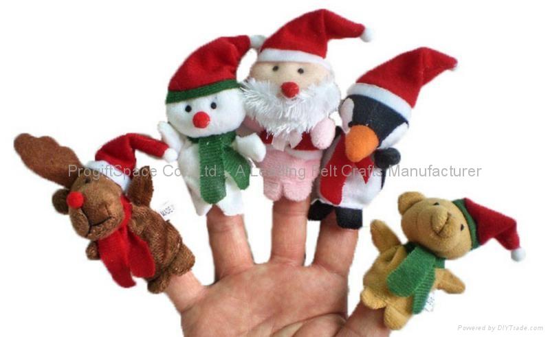 Educational Baby Cartoon Animal Plush Finger Puppets Set Story Telling 5