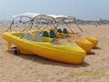 海德龙全塑休闲艇脚踏船