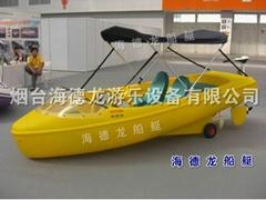 HEITRO海德龍全塑聚乙烯滾塑四人電動塑料遊樂船