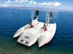 HEITRO海德龍新款聚乙烯卡通設計雙人水上自行車娛樂設備