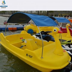 脚踏船 四人脚踏船 电动船 水上自行车 水上三轮车
