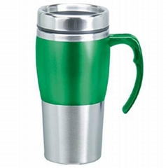 16oz BPA free double walled stainless steel Travel Mug