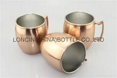 Moscow mule in copper mug,moscow mule mug russian standard,oval shape copper mug