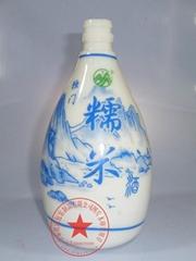 青花玻璃酒瓶