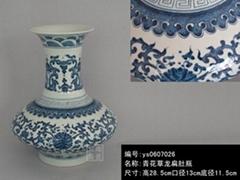 青花瓷擺設花瓶