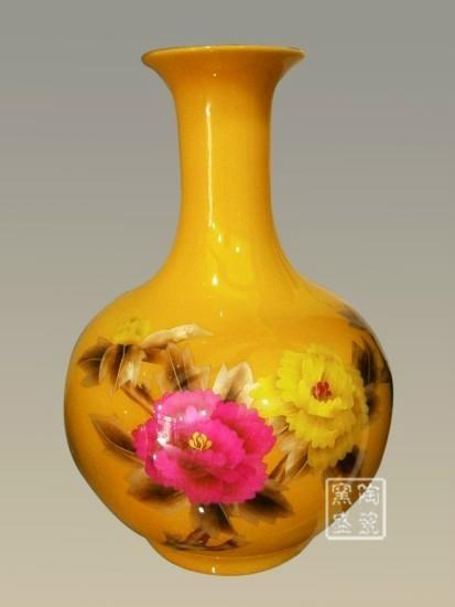 中国红麦秆画花瓶 2
