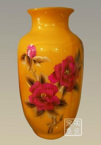 中国红麦秆画花瓶 3