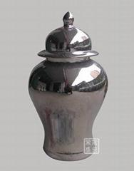 镀金瓷器摆设花瓶