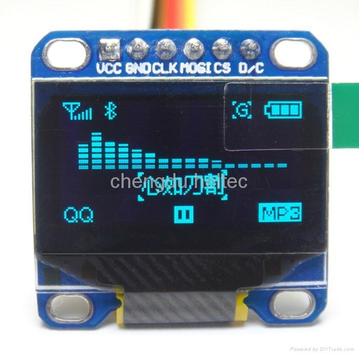 0.96 blue  SPI communication OLED module for arduino/STM32