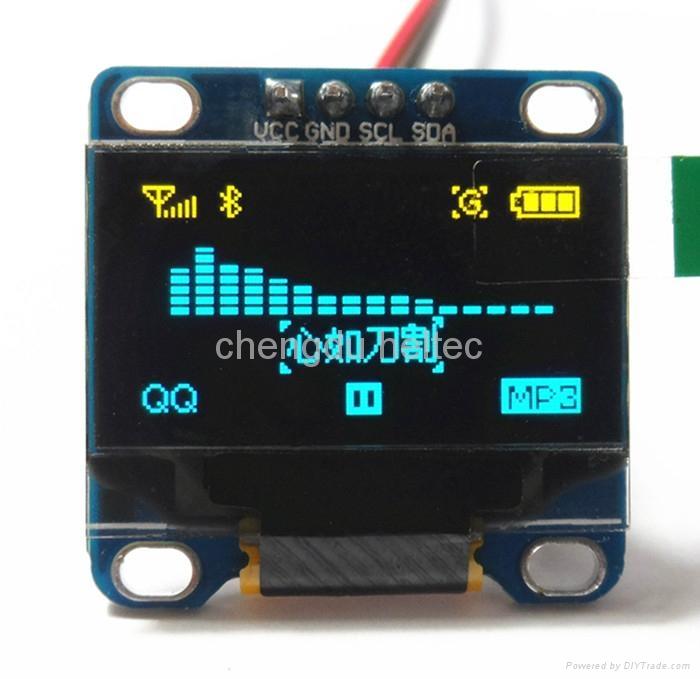 0.96 inch IIC communication OLED module (only 2 I/O needed)