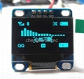 0.96 inch blue IIC OLED display module (supply arduino/stm32 code)