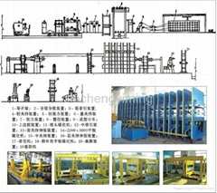 Rubber Conveyor Belt Plate Vulcanizing molding Press Machinery