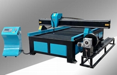 3 Axis CNC Plasma Cutting Machine with Rotary Device for Steel Plate and Pipe