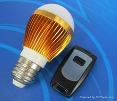 3W暖黄无线遥控灯泡