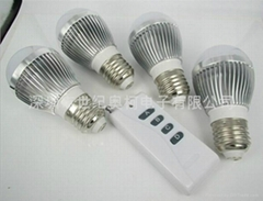 5W冷白色無線遙控LED燈