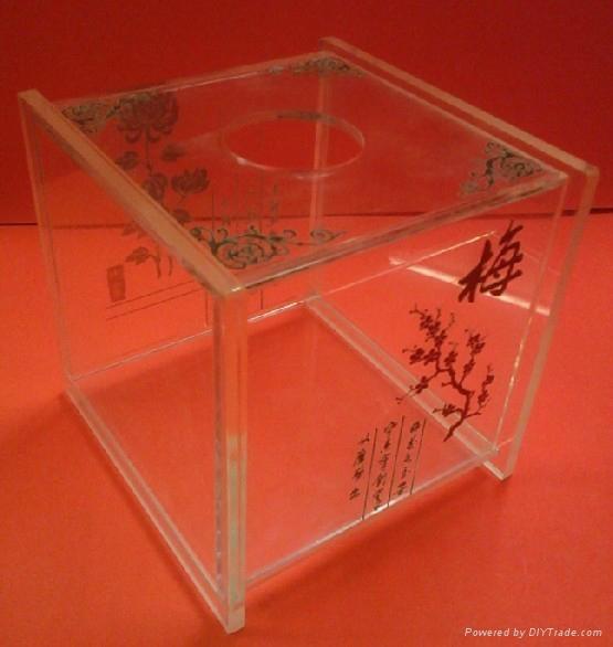亞克力紙巾盒 4