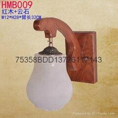 紅木雲石燈飾
