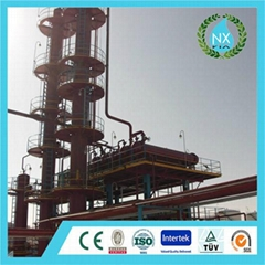 Tires pyrolysis and refine plant
