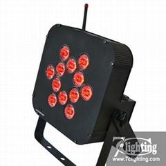Battery LED Flat Par RGBWA 5in1 LED Wireless Dmx Remote