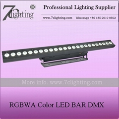 24x15W RGBWA LED Wall Washer DMX LED Bar
